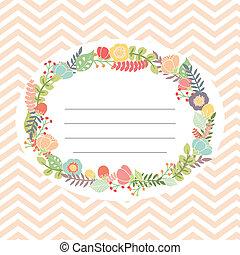 buquet, cute, flor, cartão