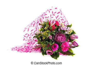 buquet, flores côr-de-rosa, luxo