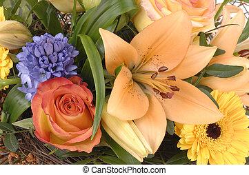 buquet, flores