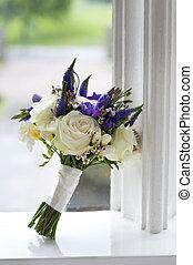 buquet, janela, casório