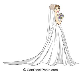 buquet, noiva