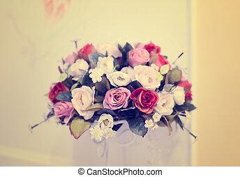 buquet, nupcial, flores, vário