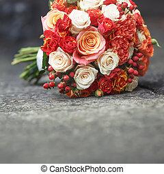buquet, nupcial, vário, flowers.