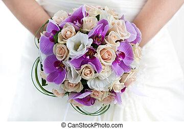 buquet, orquídeas