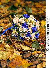 buquet, outono sai, rosas