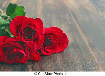 buquet,  rosÈ, vermelho