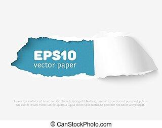 buraco, em, papel