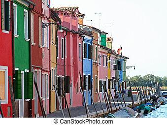 burano, venecia italia