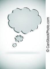 burbuja del pensamiento, cadena