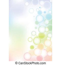 burbuja, plano de fondo