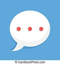 burbuja, redondeado, discurso, charla, en línea