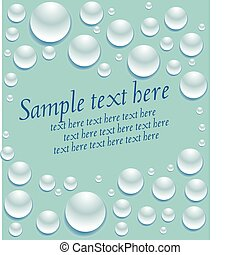 burbujas, en, el, capa, de, water.