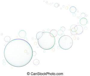 burbujas, jabón