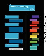 burbujas, para, mensajería