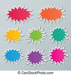 burbujas, starburst, discurso
