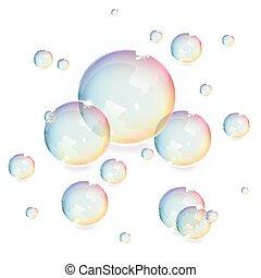 burbujas, vector
