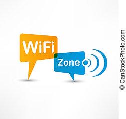 burbujas, wifi, discurso, zona