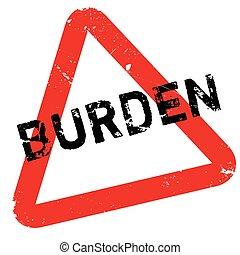 Burden rubber stamp. Grunge design with dust scratches....