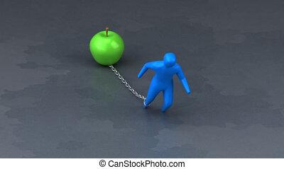 Burden symbol - 3D Animation