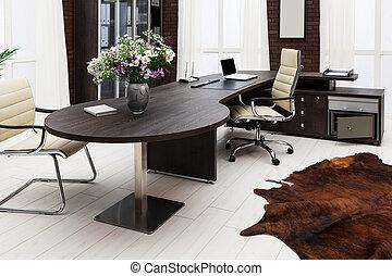 bureau, à, moderne, bureau