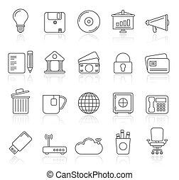 bureau affaires, icônes