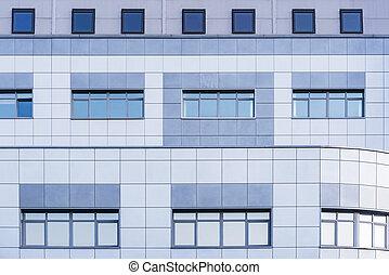 bureau, bâtiment., nouveau, extérieur