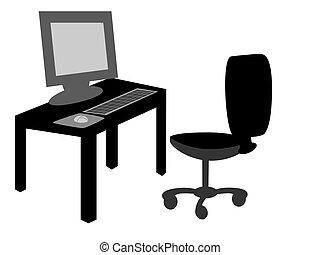 bureau bureau, à, chaise
