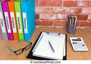 bureau bureau, à, fichier