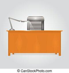 plat style bureau bureau illustration vectorielle rechercher des clipart des dessins et. Black Bedroom Furniture Sets. Home Design Ideas