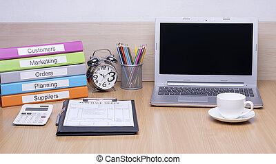 bureau bureau, sélectionner, foyer