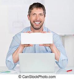 bureau bureau, signe, tenue, vide, homme affaires