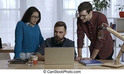bureau, business, ensemble, projet, équipe, travaux