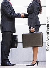 bureau, business, image, tondu, dehors, réunion