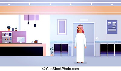 clipart vecteur de ville arabe homme stands occidental ville stands csp49515017. Black Bedroom Furniture Sets. Home Design Ideas