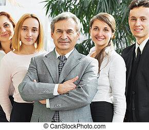 bureau,  Business, réussi, moderne, fond, clair, équipe