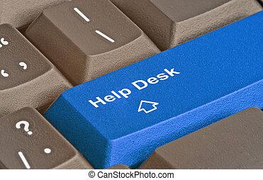 bureau, clef aide, clavier