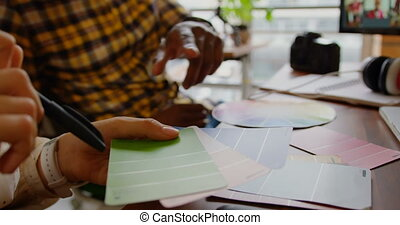 bureau, concepteurs, travailler ensemble, 4k, bureau, moderne