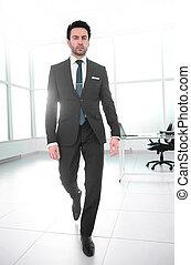 bureau., confiant, moderne, homme affaires