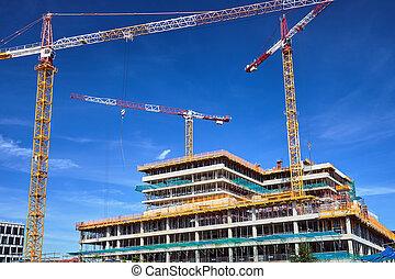 bureau, construction, bâtiment