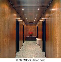 bureau, couloir