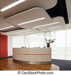 bureau, dans, business, bâtiment