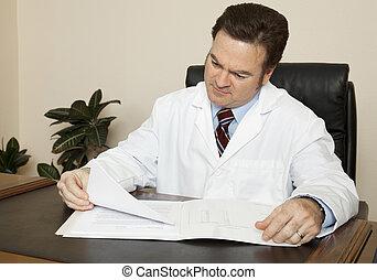 bureau, docteur, sien