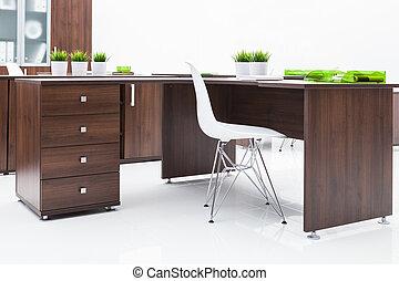 bureau, en, boekenkast
