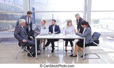 bureau, equipe affaires