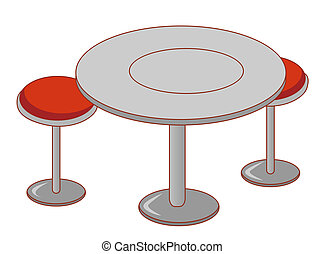 bureau, et, chaise