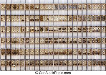 bureau, façade, bâtiment