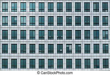 bureau, fenetres, bâtiment moderne