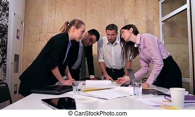 bureau fonctionnant, créatif, projet, équipe, business