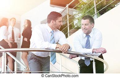 bureau fonctionnant, gens, affaires modernes, équipe