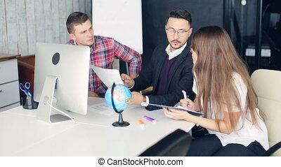 bureau, fonctionnement, compagnie, moderne, projet, collègues